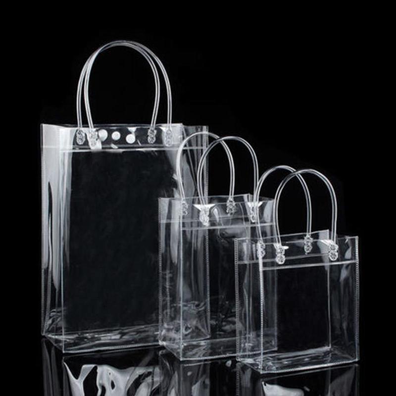 1 Pc Neue Klar Tote Tasche Pvc Transparent Einkaufstasche Schulter Handtasche Stadion Genehmigt Umwelt Lagerung Taschen Dropshipping Produkte Werden Ohne EinschräNkungen Verkauft