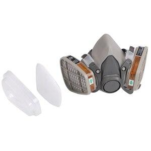 Image 5 - 6200 نوع الصناعية نصف الوجه اللوحة الرش التنفس قناع واقي من الغاز دعوى سلامة العمل تصفية الغبار قناع استبدال 3M