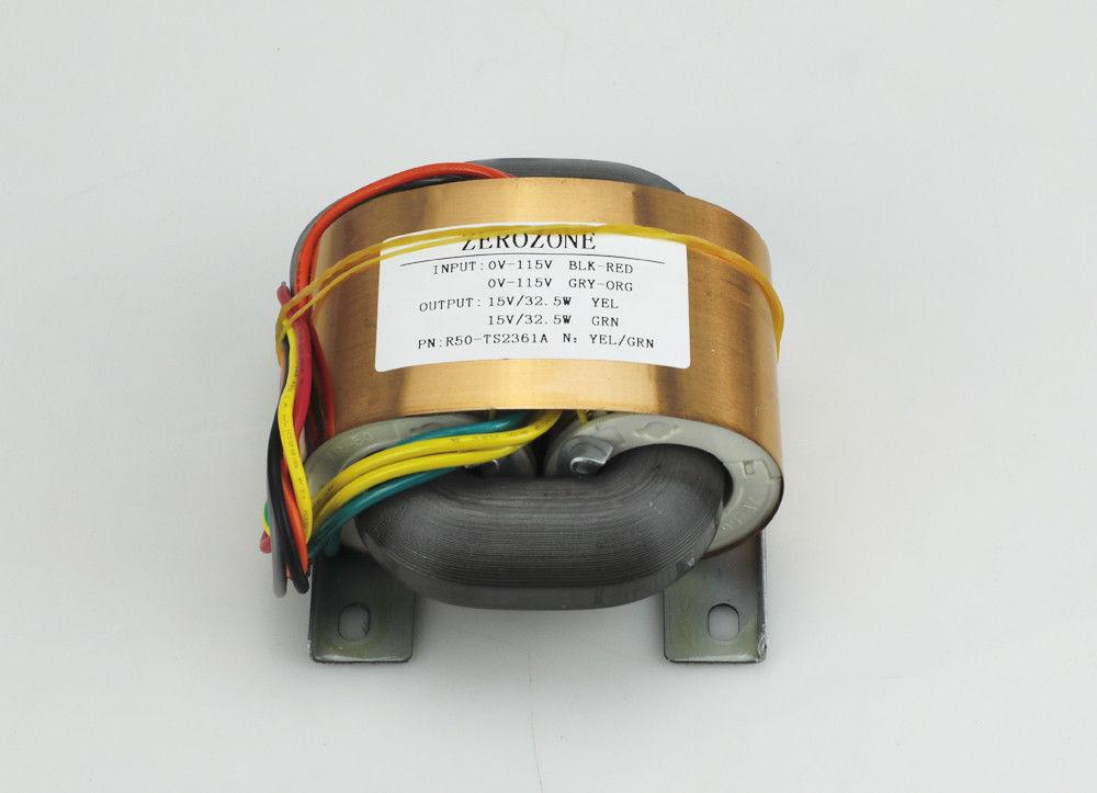 ZEROZONE 65VA 4 Lines Pure copper R core transformer 9V 12V 15V 18V 20V 24V 26V