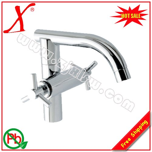 Retail - Luxury Brass Faucet, Double Handle Mixer, Wall Mounted Tap, Chrome Finish, L15389Retail - Luxury Brass Faucet, Double Handle Mixer, Wall Mounted Tap, Chrome Finish, L15389