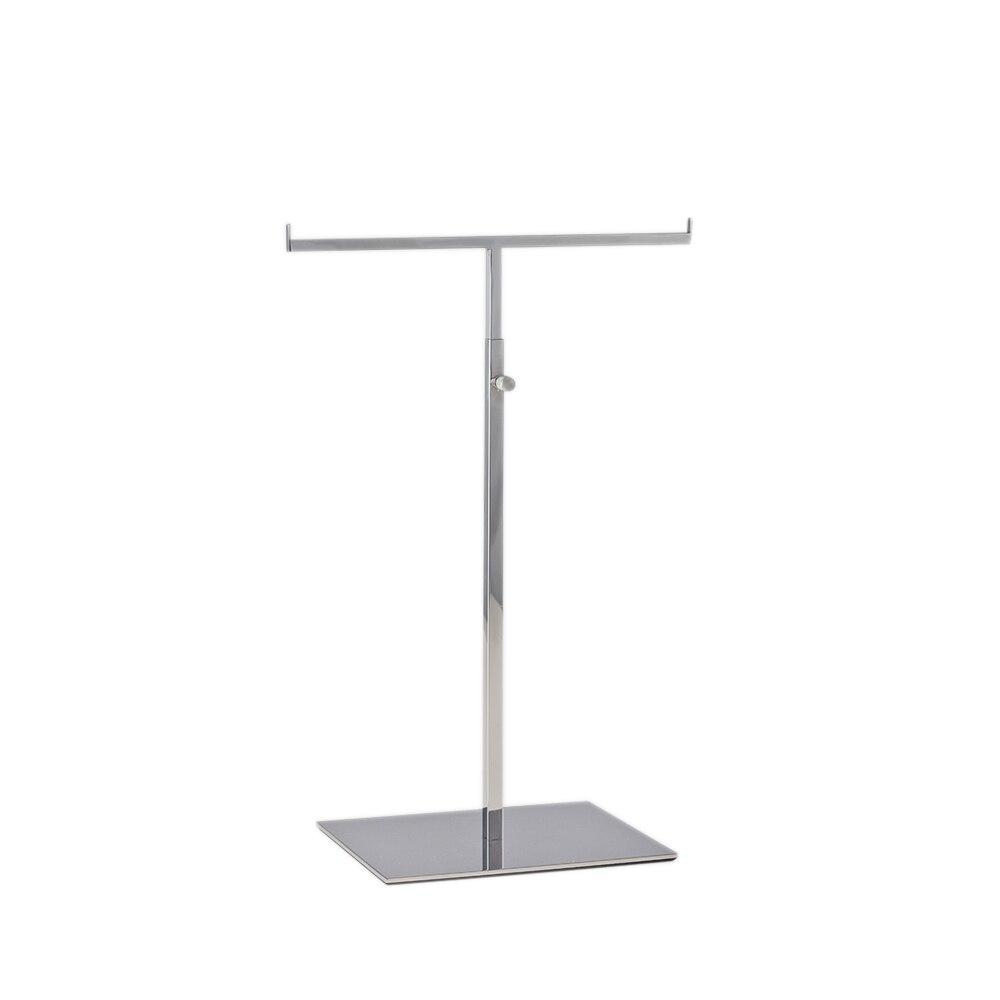 Polish silver t bar stand display, metal scarves rack tie display rack , stainless steel T bar store display