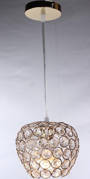 Современный хромированный блеск Apple, моделирующий светодиодный хрустальный светильник, хрустальная люстра, лампа E27/26, люстра, светильник, подвесной потолочный светильник - Цвет корпуса: Gold