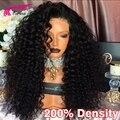 8A Полный Шнурок Парик Человеческих Волос 200 Плотность Glueless Полный Шнурок парики Для Чернокожих Женщин Malaysain Девы Волос Фронта Шнурка Человеческих Волос парики