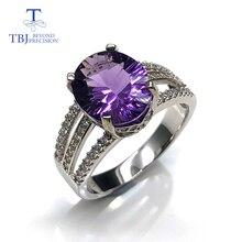 Novo design ametista anéis de pedra preciosa natural oval 10*12mm com 925 prata esterlina jóias finas presente aniversário para mulher esposa