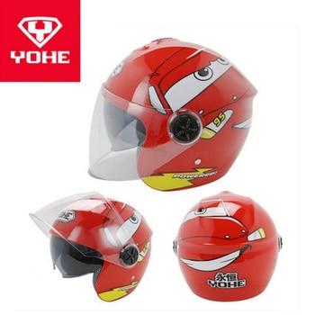 2019 New YOHE Children Motorcycle helmets Half Face Child Motorbike Helmet Kids safety caps hat of ABS PC Lens visor FREE SIZE