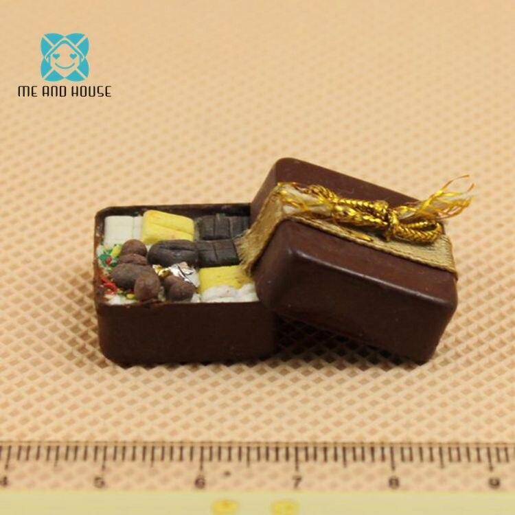 1:12 Кукольный дом Миниатюрный подарок ко Дню Святого Валентина Mini chocolate box