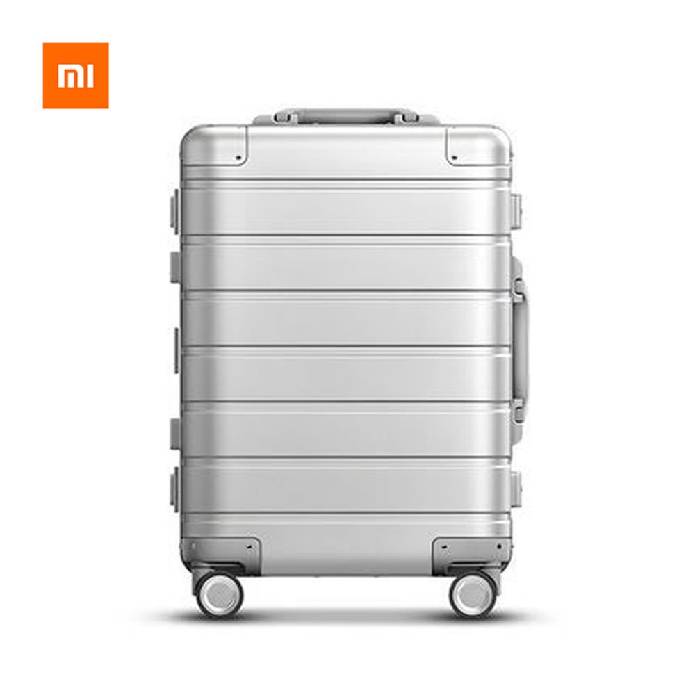 Xiaomi 20 Inch Metal SUITCASE 90FUN Business Travel Suitcase for Woman Man Spinner Wheel Trolley Cases Luggage With Lock Code 3pcs set vintage pu travel luggage 12make up bag & 20 26 retro trolley suitcase bags with spinner wheel with combination lock