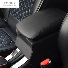 DEE High quality special leather vehicle central armrest box ,refit storage box for Peugeot 2008 car stickers cover