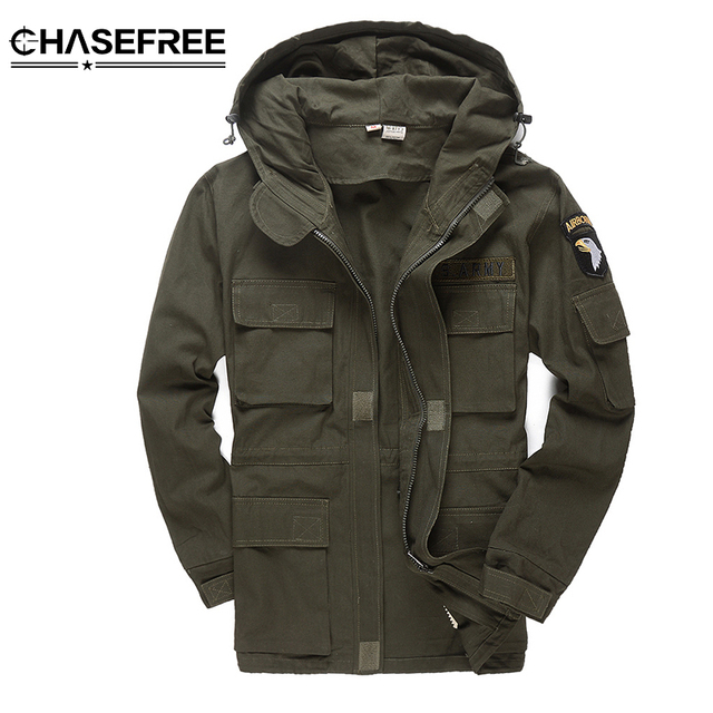 730c7aa70 US $44.0 50% OFF|Men Military Style Tactical Jackets For Men Pilot Coat US  Army 101 Air Force Bomber Jacket Coat-in Jackets from Men's Clothing on ...