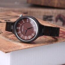 DODO DEER New Fashion Ebony Wooden Watches Women ladies Womens Clock casual dress quartz wristwatch reloj mujer A16-3
