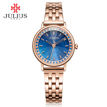Julius Brand 2017 New Spring Quartz Watch Women Fashion Casual Clock Shell Dial Whatch Waterproof 30M Steel Montre Femme JA-959