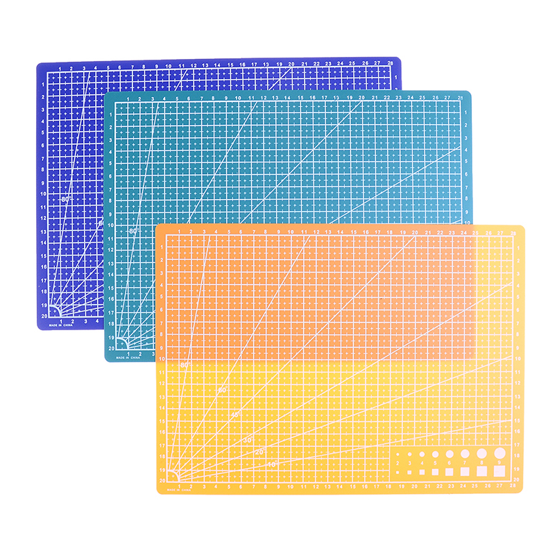 1PC A4 Grid Lines Cutting Mat Made With PVC Material For Salad And Vegetable Cutting 3