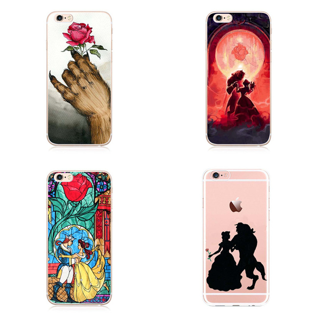 Schoonheid En Het Beest Clear Mobiele Telefoon Case Cover apple iPhone 5 5 s SE 6 6 s 7 7 PlusBeautiful beast rozen Case