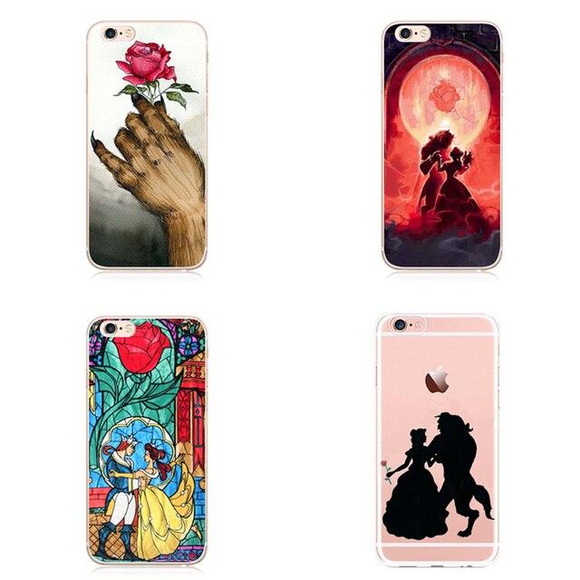 Schoonheid en het beest clear mobiele telefoon case cover voor apple iphone 5 5 s se 6 6 s 7 7 plus
