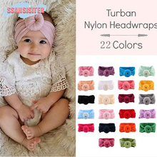 d4a6ed9f0ad 22 Color Baby Headband Girls Princess Turban Headwraps Children Solid  Boutique Hair Bands Infant Bebes Hair