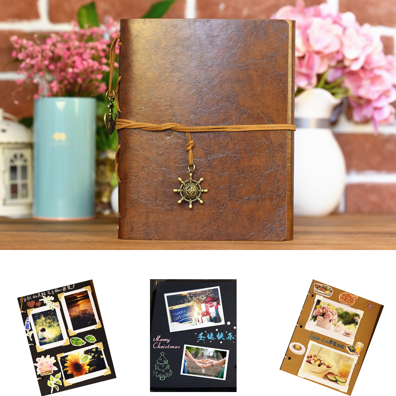 Quality Photo Albums: High Quality 30 Pages PU Leather Photo Album Vintage
