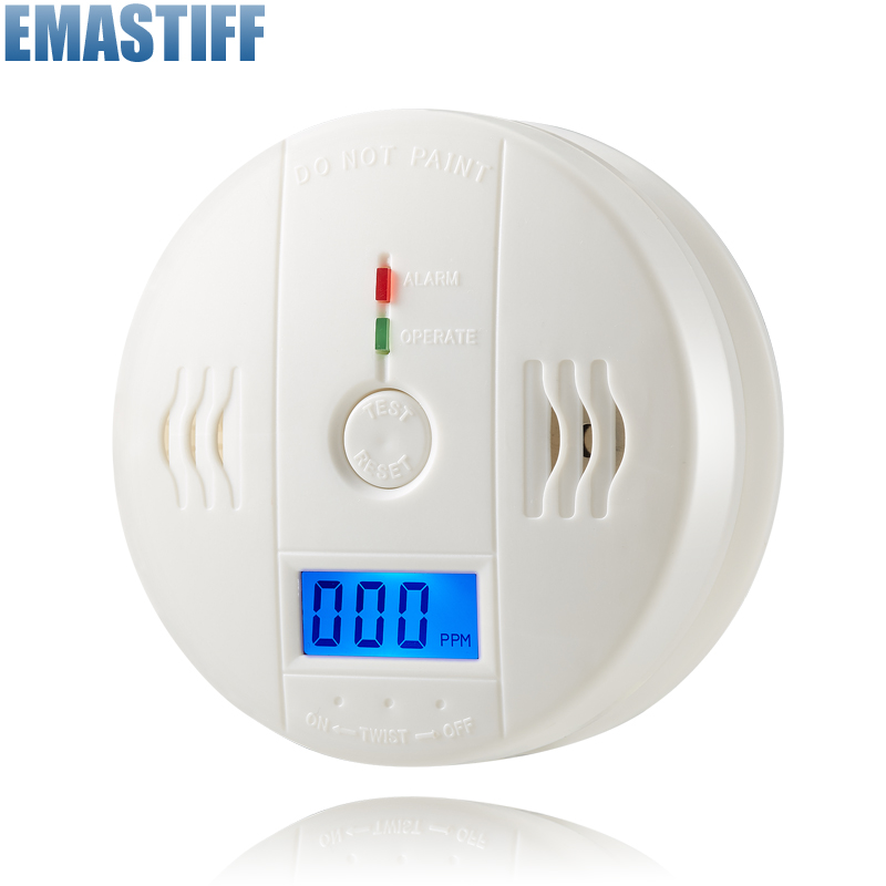 High Sensitive Home Security 85dB Warning LCD Photoelectric Independent CO Gas Sensor Carbon Monoxide Poisoning Alarm