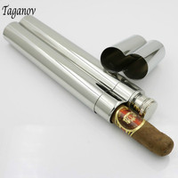 Mini Cigar Case 6oz Stainless Steel Hip Flask