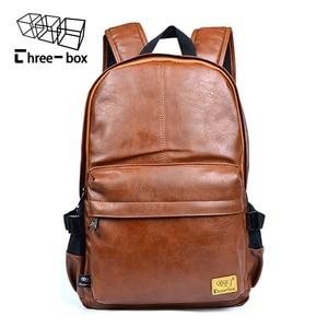 Image 1 - Mochilas de moda de tres cajas para hombre y mujer, mochila Retro de gran tamaño para hombre y mujer, mochila de viaje de ocio para estudiante de la escuela