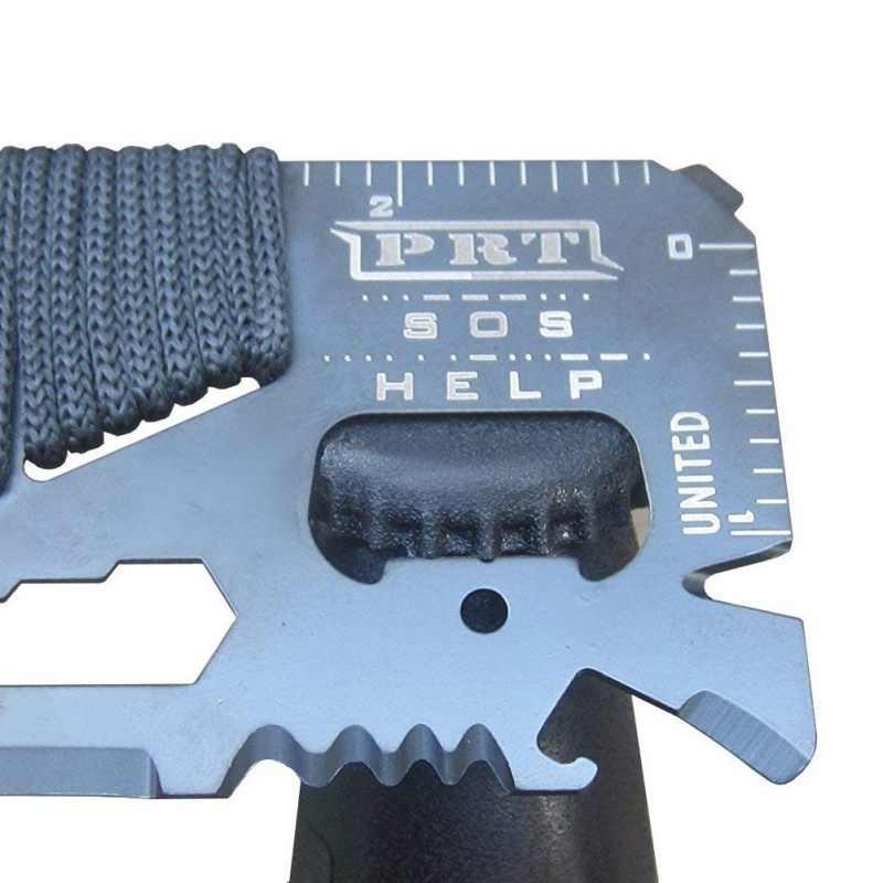 14 في 1 بطاقة الائتمان محفظة صغيرة SOS سكينة سرفايفل الفولاذ المقاوم للصدأ متعددة الوظائف في الهواء الطلق التخييم النينجا الإنقاذ جيب أداة