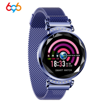 696 Women H1 Smart Bracelet Wristband Heart Rate Blood Pressure Smart Bracelet Fitness Tracker Smart Watch Women Female Clock H8