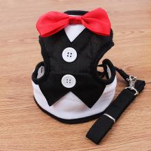 Elegant Tuxedo Dog Harness With Leash