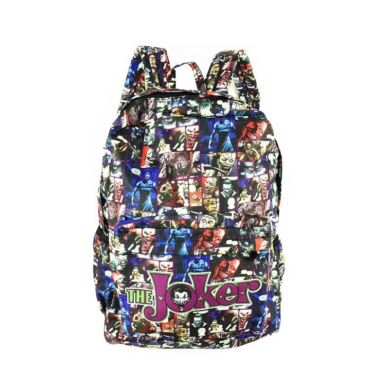 Free Shipping Dc Marvel Star Wars Anime Comics Backpack Joker Deadpool Bat Man School Bags