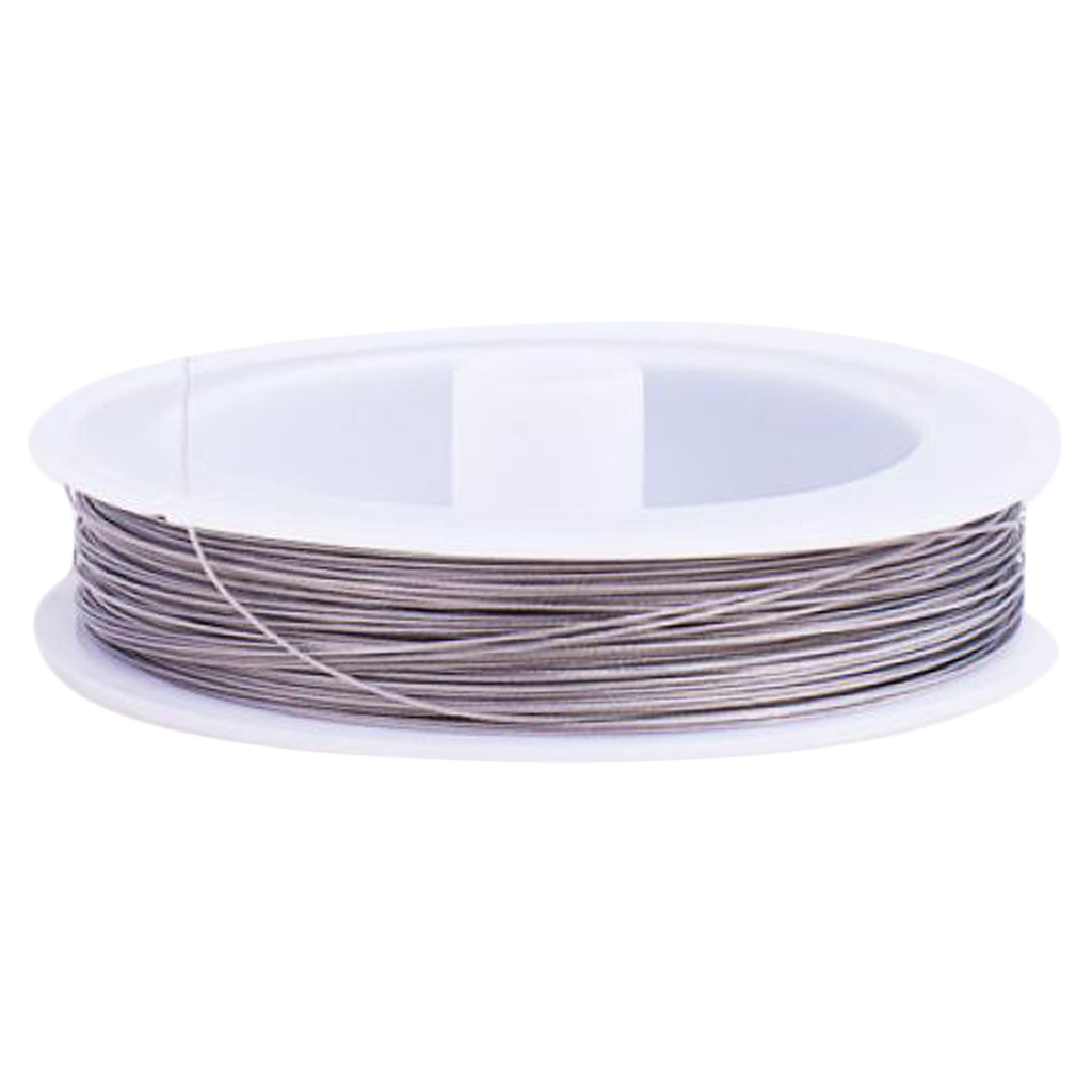 Roll Silver Tiger Tail Beading Wire 80m 0.45mm Nylon Coated Stainless Steel Wire