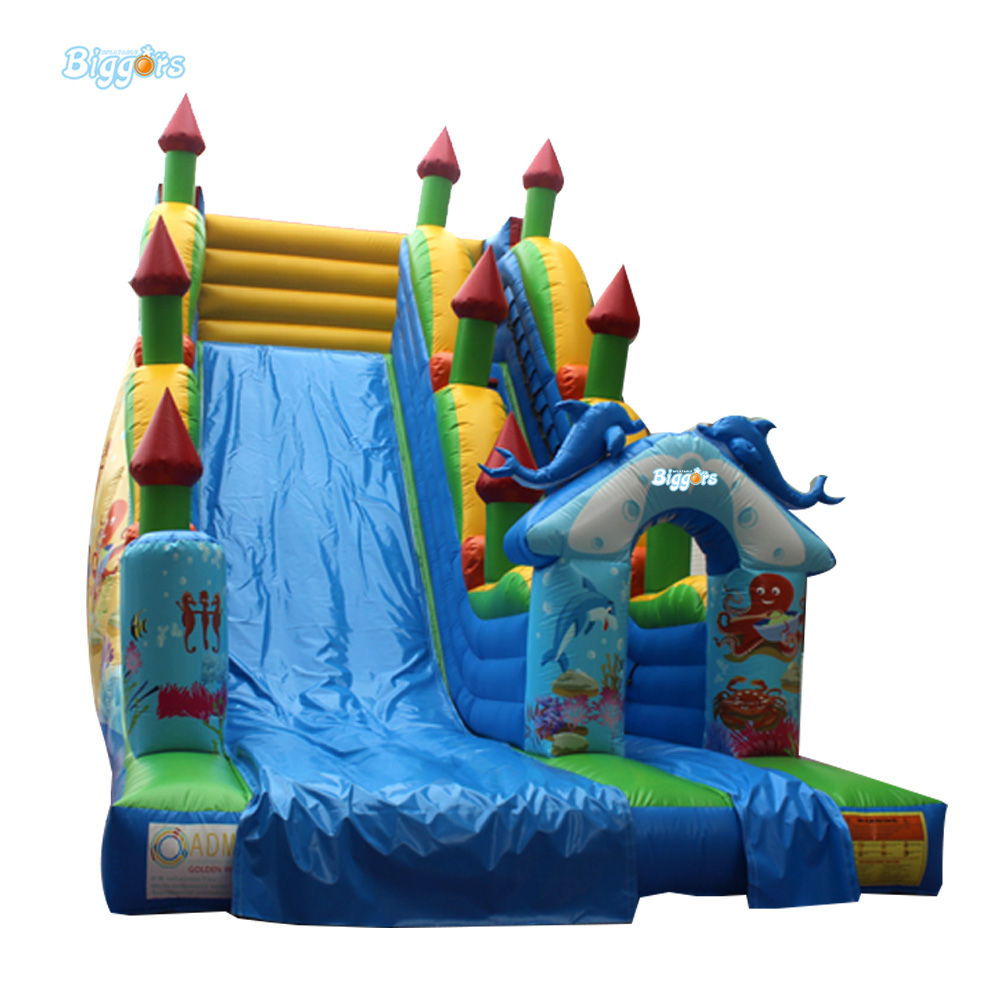 Attractive design inflatable Water Slide/ jumping kids bouncy house from Chinese factory new inflatable slide wave slide slide ocean hx 886