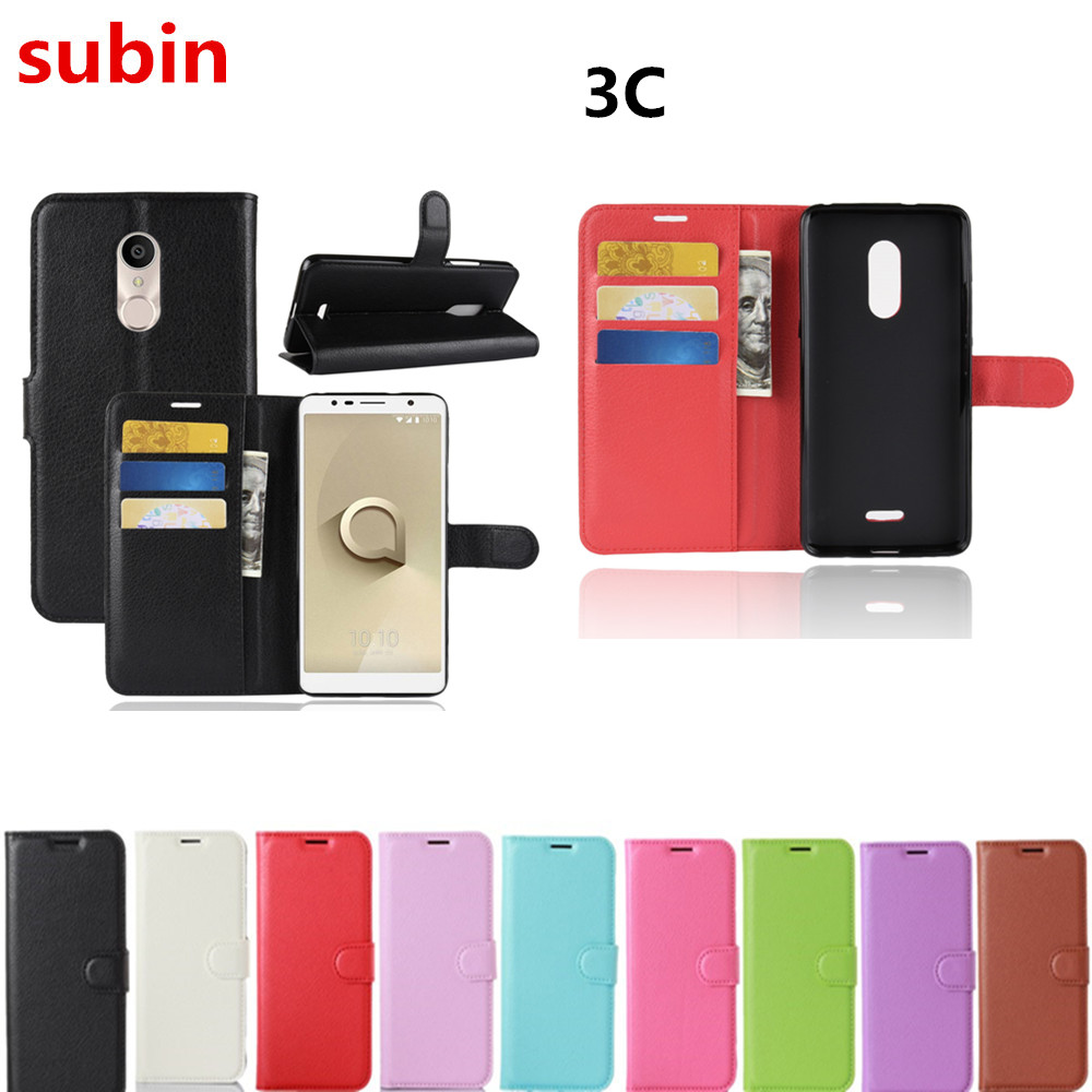 For Alcatel 3C 5026 Case Wallet Style PU Leather Mobile Protective Back Cover For Alcatel 3C Dual SIM 5026D Phone Bag Cases