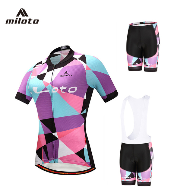 MILOTO 2018 Summer Breathable Mountain Bike Pro Team Cycling jerseys Set  Quick-Dry Short sleeve Cycling Clothing Pad Sportswear 7a4a93ead
