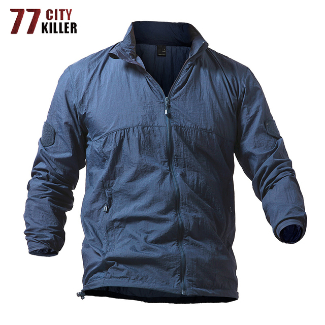 77City Killer Quick-Drying Tactical Jacket Men Summer Breathable Military Uniform Waterproof Hooded Thin Jackets Plus Size S-5XL
