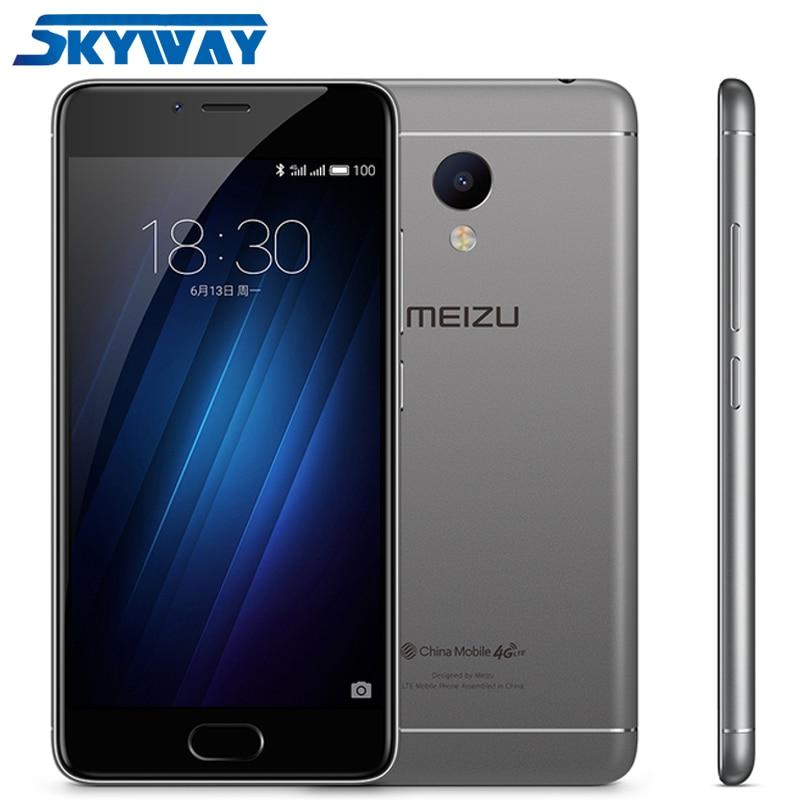 "Original Meizu M3S Mini 5.0"" Cell Phone MTK6750 Octa Core Metal Body 3020mAh 13MP 3GB RAM 32GB ROM Fingerprint"