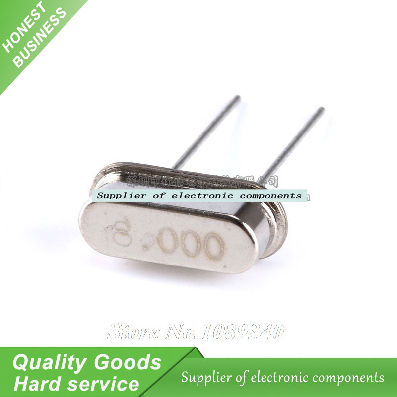 20pcs/lot HC-49S 8M 8MHz DIP Passive Quartz crystal resonator HC-49S New products and ROHS 49s Crystal Oscillator