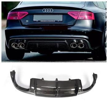 For Audi A5 S5 Sportback 2008-2016 Carbon Fiber Rear Lip Spoiler High Quality Car Bumper Diffuser Auto Accessories