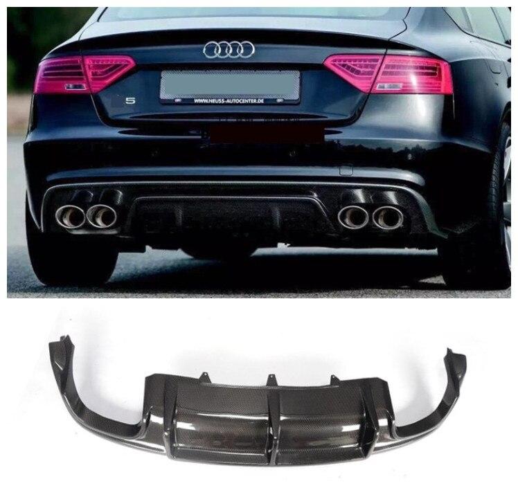 For Audi A5 S5 Sportback 2008 2016 Carbon Fiber Rear Lip Spoiler High Quality Car Bumper Diffuser Auto Accessories