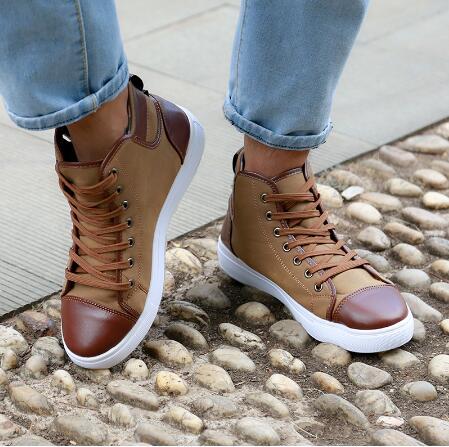 Botines Zapatos Otoño Masculino Hombres As Tenis Alto Top Cuero as Photos Cordones Hombre De Frente Casual Photos Sapatos Los Invierno 2017 fvgxwx