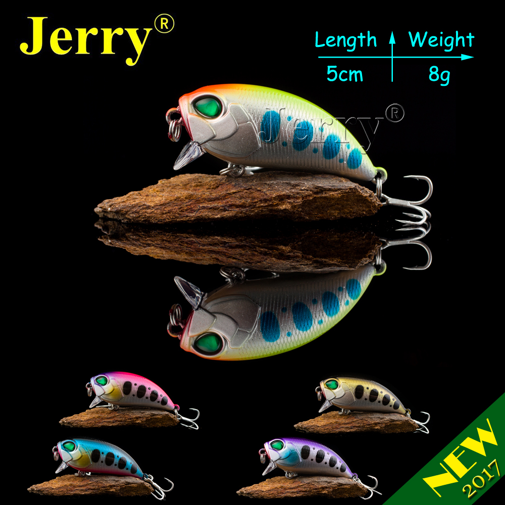 Jerry 1pc 5cm 8g ultralight fishing lures hard bait rattling crankbait wobbler crank bait magnetic weight trout bass pike lures