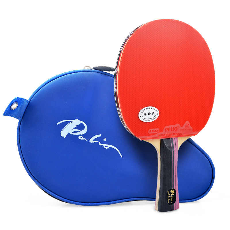 Official Palio 3 Star  Finished Table Tennis Racket with caseTable Tennis Rubber Ping Pong Rubber  Raquete De Ping Pong