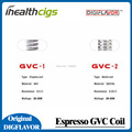 100% Оригинал Digiflavor GVC-1 Клэптон 0.5ohm Катушки VS GVC-2 0.25ohm Notch Катушки для Эспрессо Бак 5 шт.