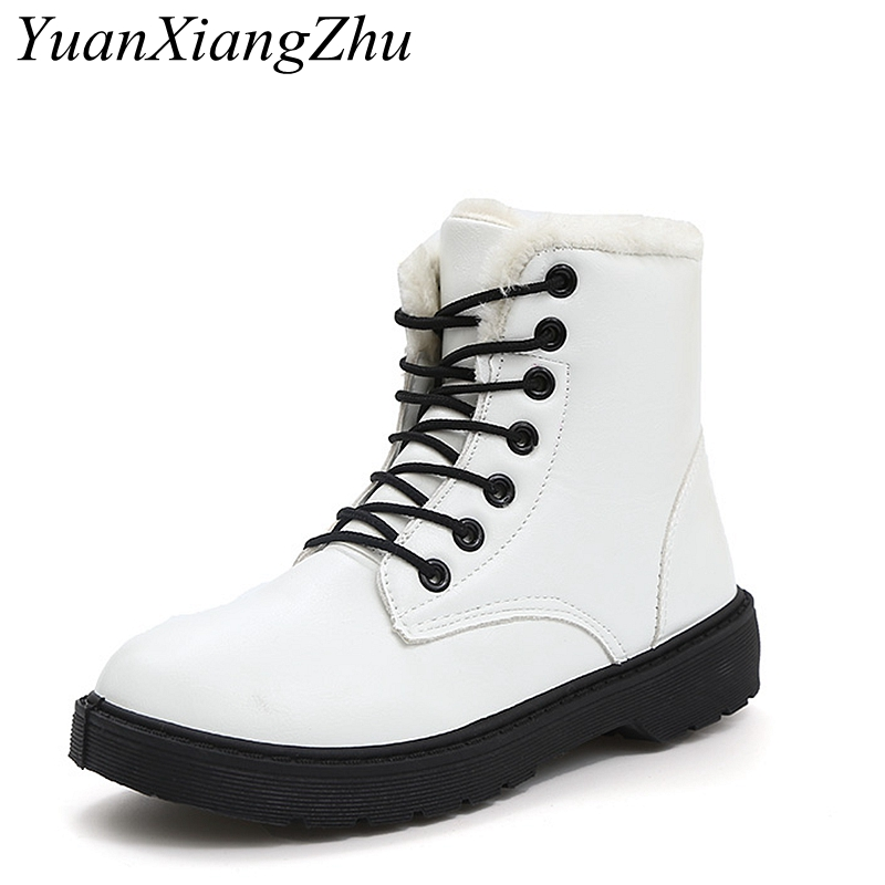 Fashion pu leather snowboots woman winter dr martin boots waterproof women ankle boots women shoes warm fur plush Insole shoes vtota fashion european style black ankle boots zip martin boots platform pu leather woman shoes with warm plush winter boots j19