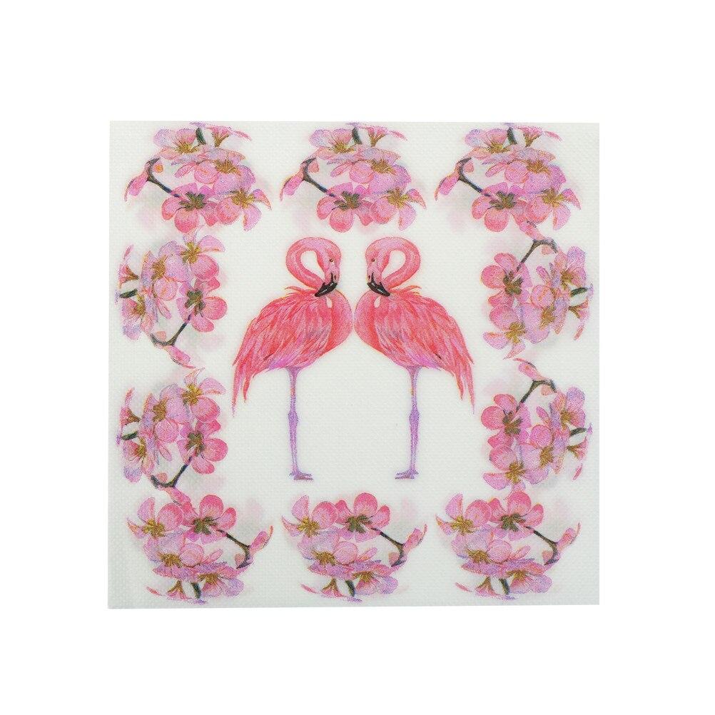 20Pcs/lot Pink Flamingo Bird Theme Paper Napkin Festive & Party Tissue Napkin Decoupage Party Decoration Decor 33*33cm