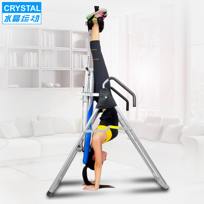 Adjustable Folding handstand machine Inversion Table with handbrake Stable and safe Weight load 300kg Reduces back