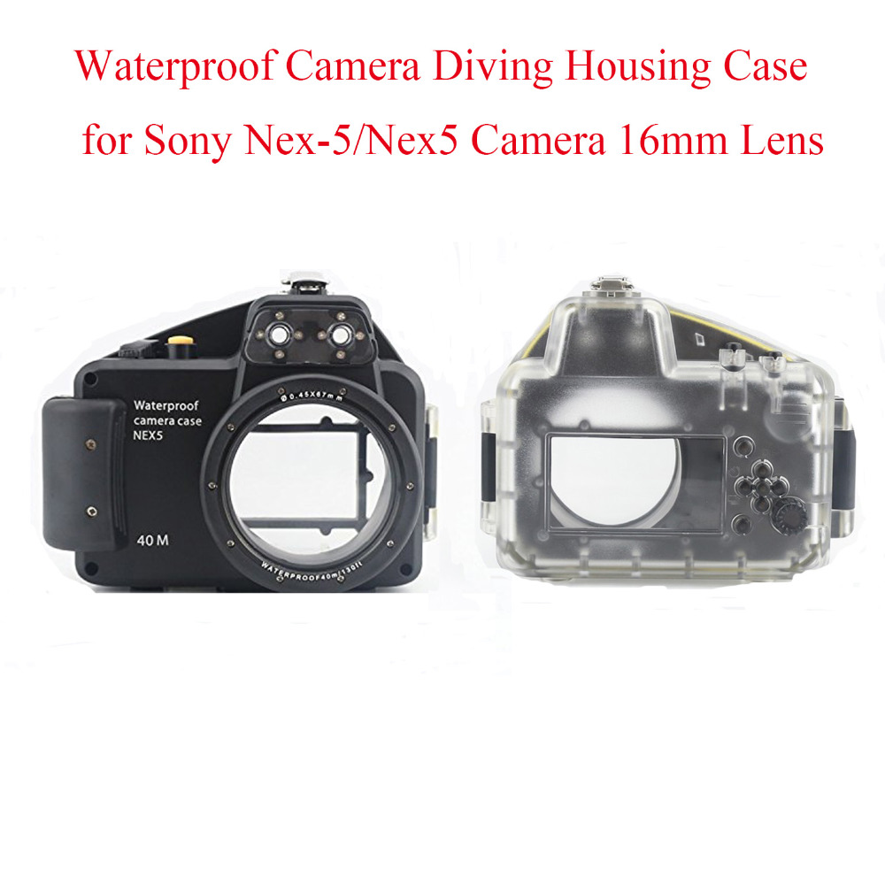 Meikon 40m/130ft Waterproof Camera Diving Housing Case for Sony Nex-5/Nex5 Camera 16mm Lens,Underwater Bag Case for Nex-5 Camera цена и фото