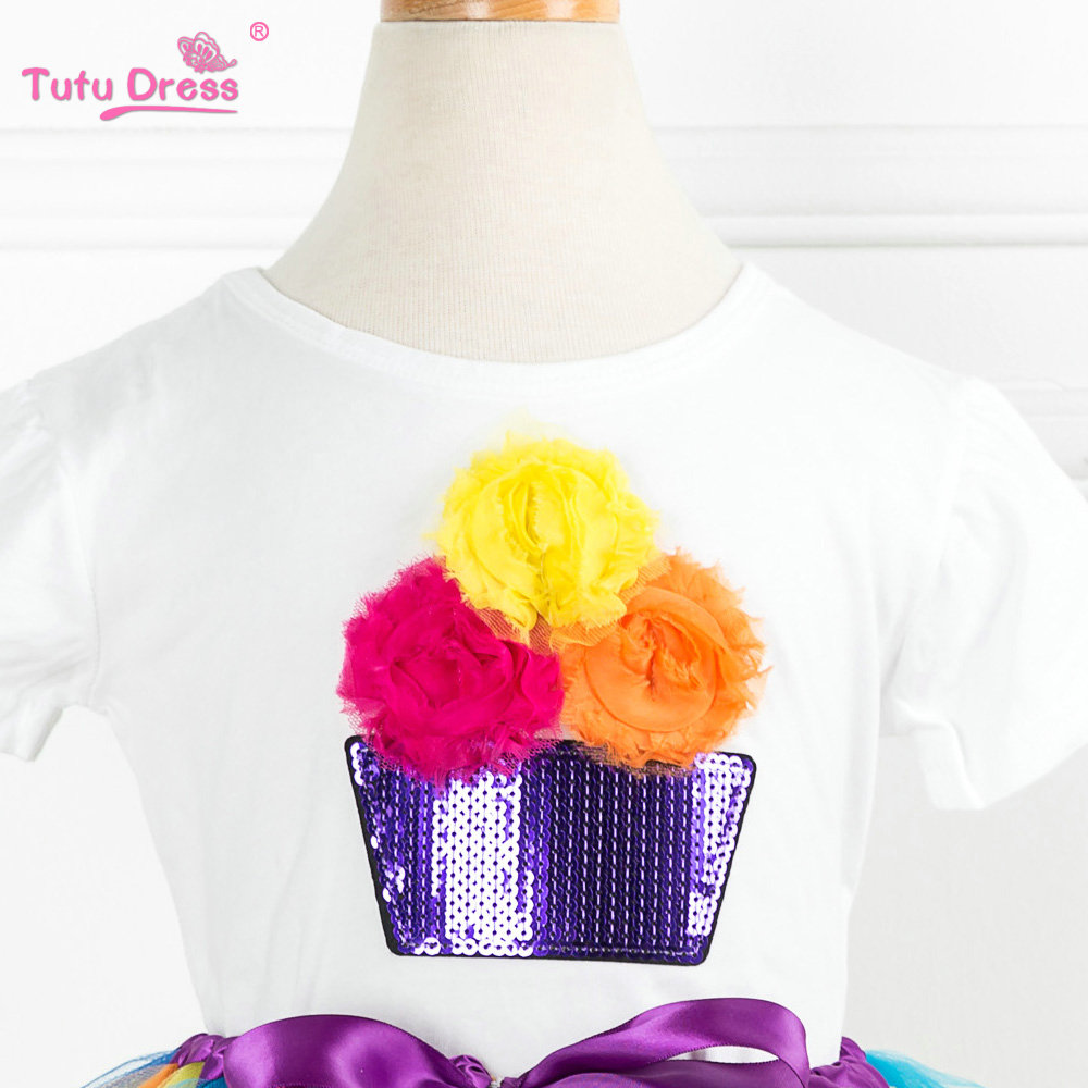 5T Baby Girls Dress Clothes My Aunt is Pretty Print Short Sleeve T-Shirt+Lace Tutu Tulle Dress Summer Casual Clothes