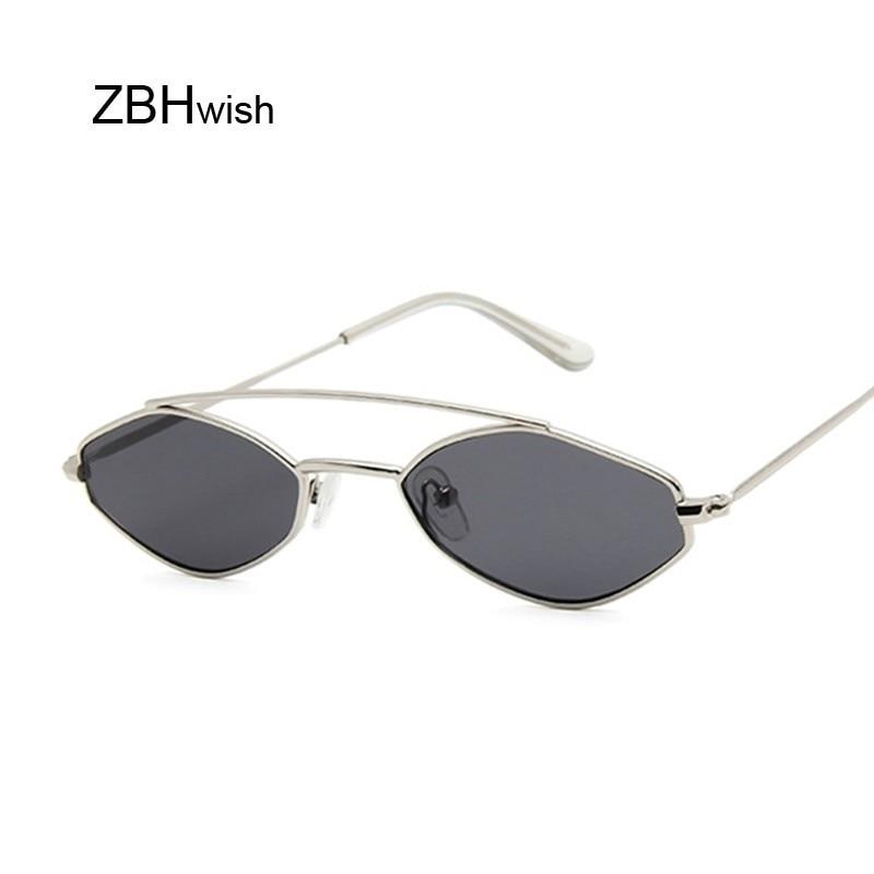 Солнцезащитные очки «кошачий глаз» женские, милые пикантные брендовые дизайнерские солнечные очки в стиле ретро, в маленькой оправе, черны...