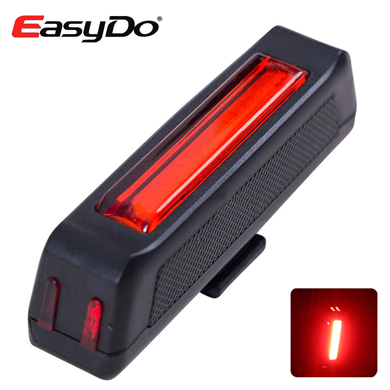 EasyDo Rear Bike Lights For Bicycle LED Lamp USB Rechargeable Laser Taillight Night Warning Cycling Accessories 6 Lighting Modes