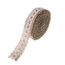 Wedding Decoration Lace Jute Bouquet Accessories Hessian Braid Bride Taps Gift Sweet DIY Candy Box Linen Ribbon
