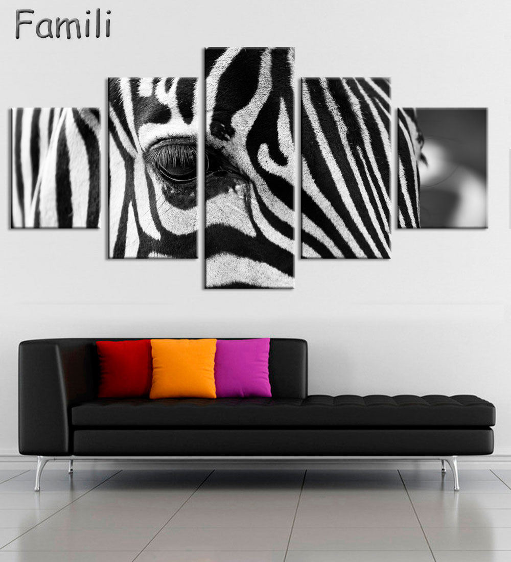 Zebra Print Living Room Decor Popular Zebra Artwork Buy Cheap Zebra Artwork Lots From China