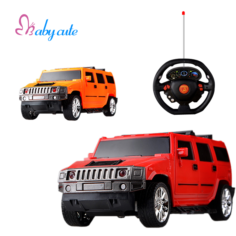 rc car toy mini hummer electronic cars flashing shock resistant drift speed rc car with light model 118 steering wheel kids toy